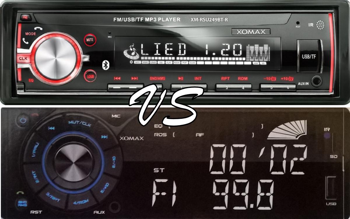 Vergleich Xomax Autoradio