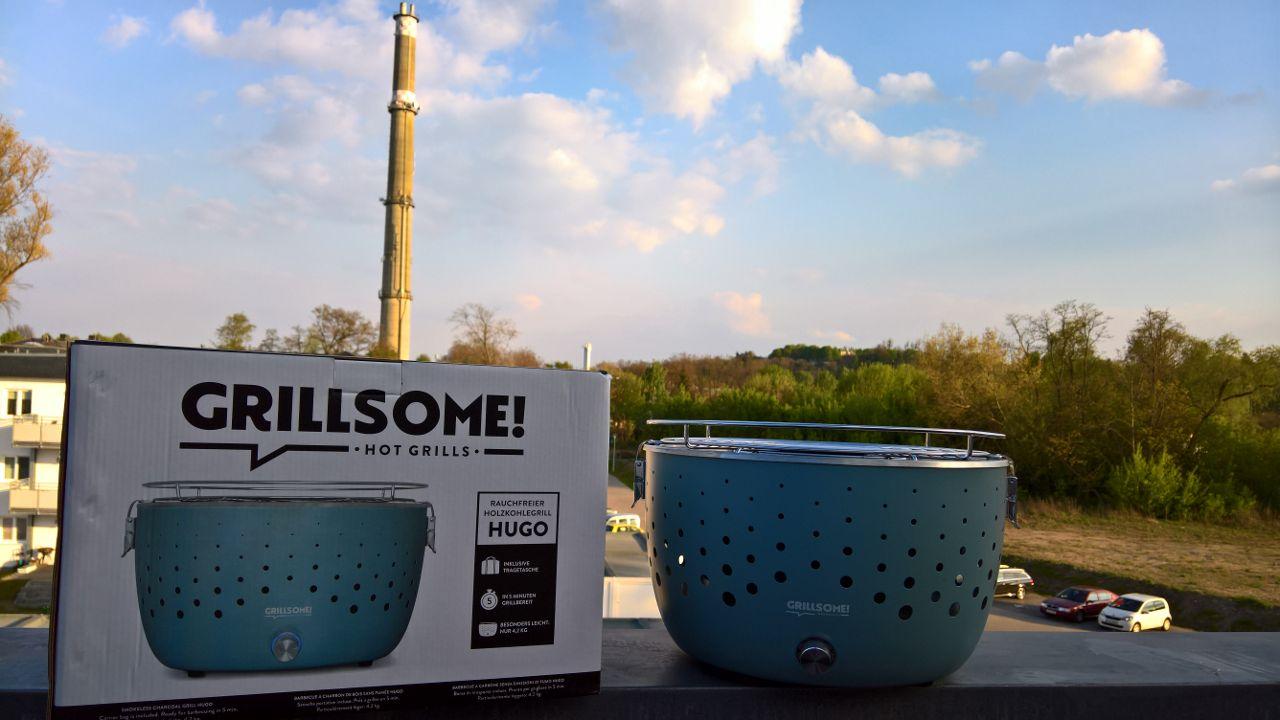 Rauchfreier Holzkohlegrill Hugo : Grillen ohne rauch grillsome hugo von testerbar