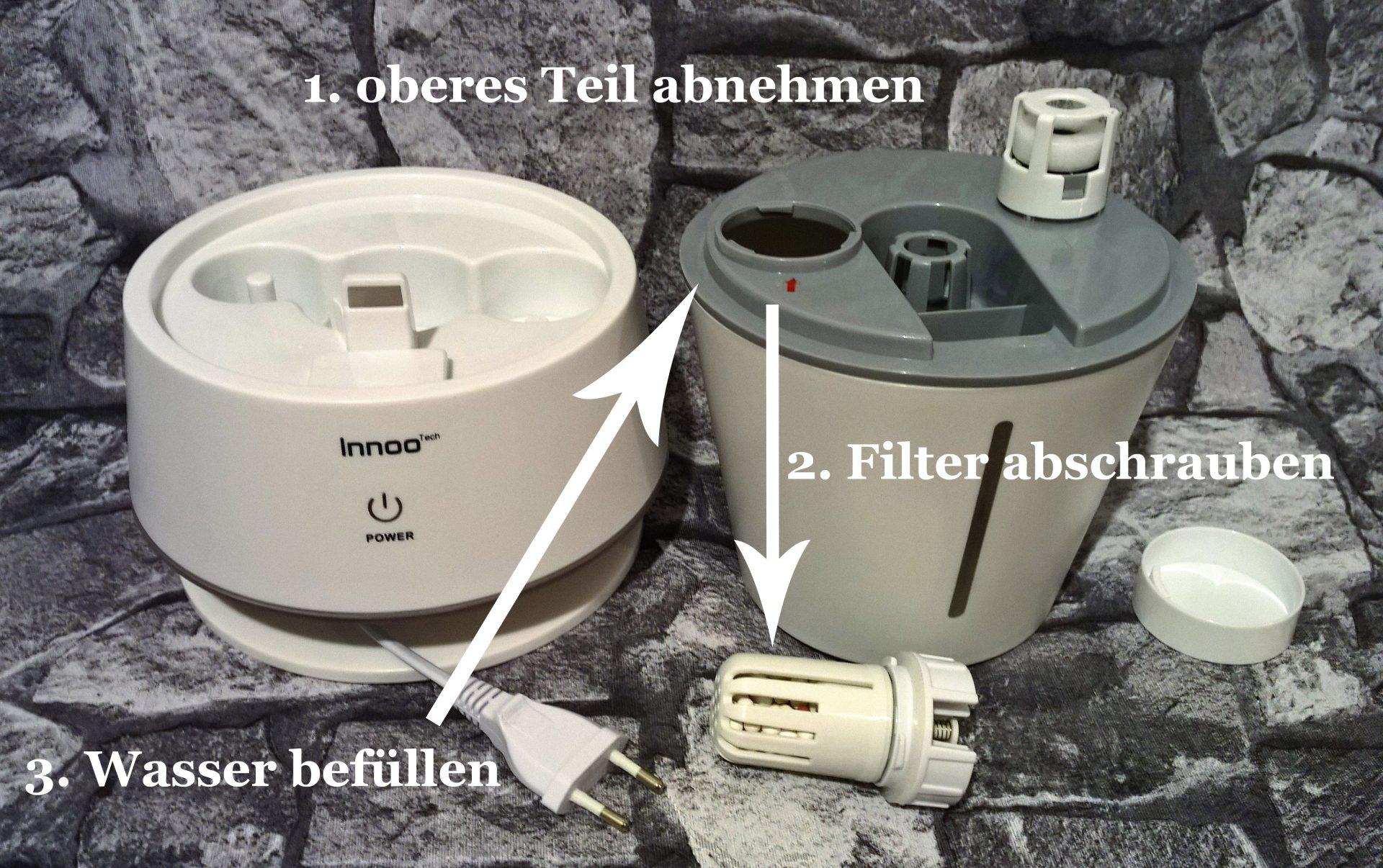 UnterDieLupe.com testet den Innoo Tech Ultraschall Luftbefeuchter im Produkttest
